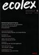 Cover ecolex 5/1998